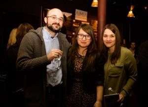 Left to right: Dr. Antonio Zuffiano, Roxana Grigore, and Madalina Grigore