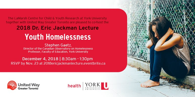 Dr. Eric Jackman Lecture: Youth Homelessness @ Novotel Hotel - Paris B Ballroom